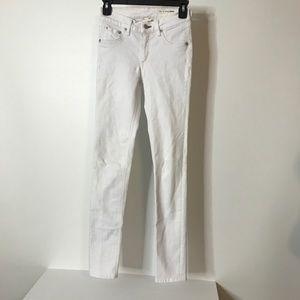 Rag & Bone Jeans Size 25 White Skinny